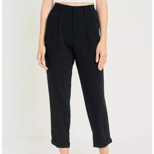 UO Pleated Front Black Trousers, XS